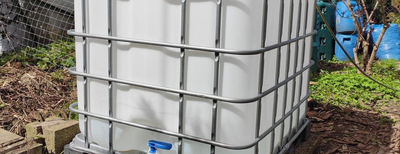 Gartenbewässerung mit IBC Container